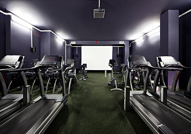 Gym Cinema Room stock photo