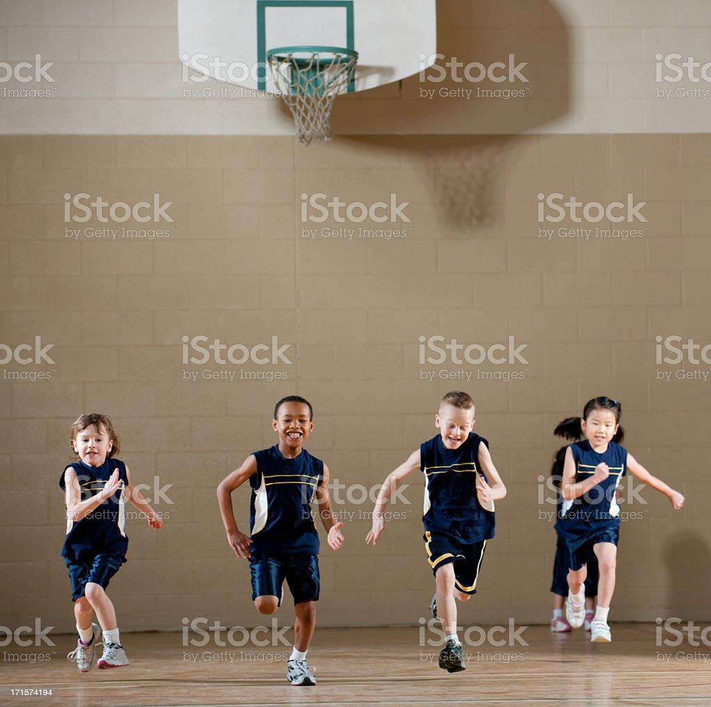 Gym class stock photo