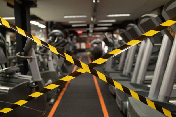 Gym closed stock photo