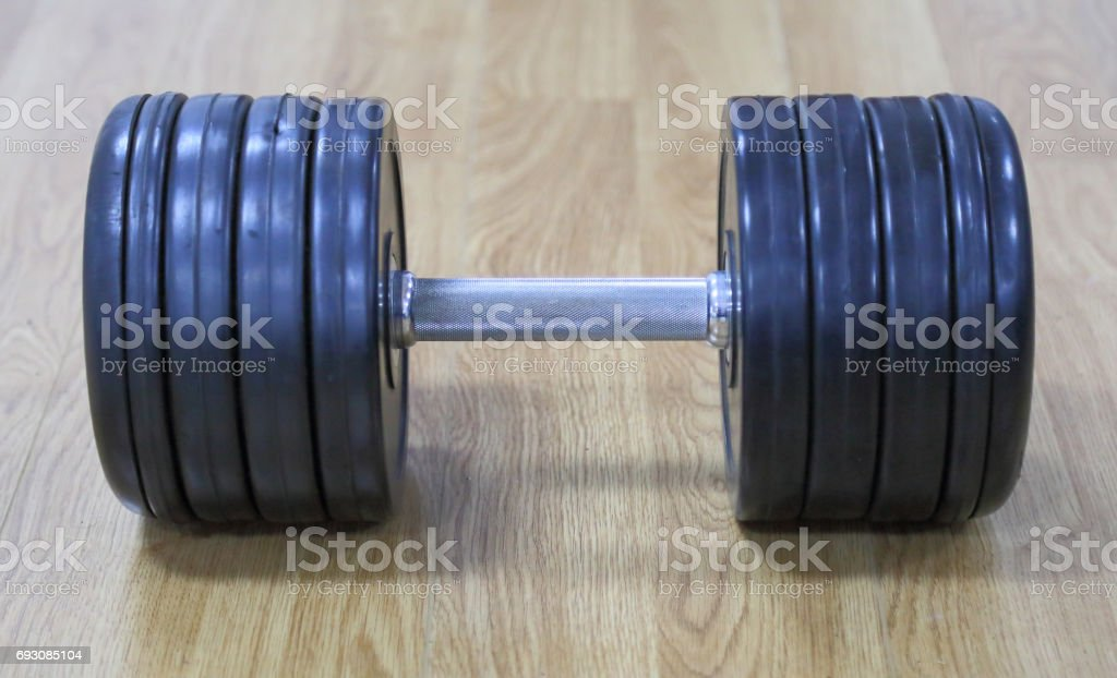 Gym Dumbbells stock photo