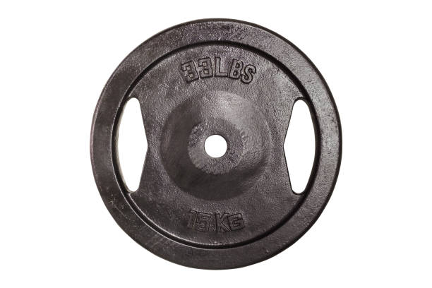 Gym equipment 15 kilogram Weight for sport isolated on white background. Gym equipment 15 kilogram (kg.) weights stock pictures, royalty-free photos & images