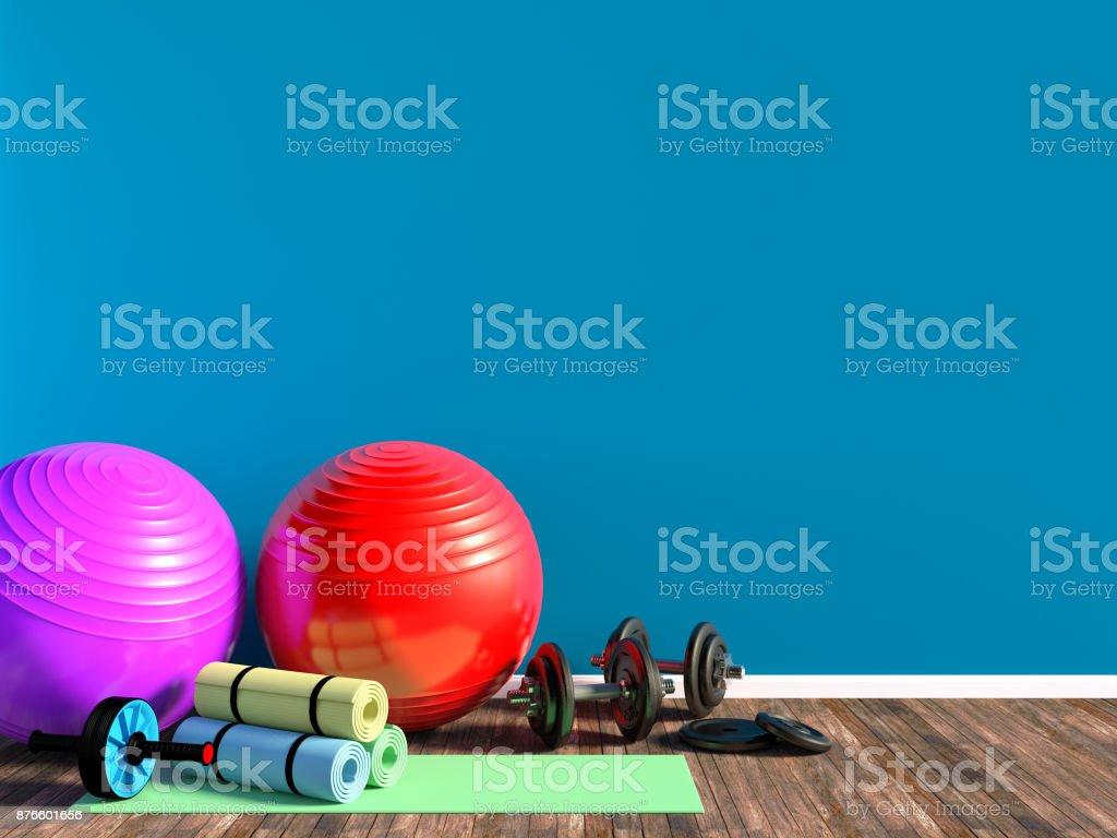 Fitnessgeräte für Fitness trainieren Sie im Zimmer – Foto
