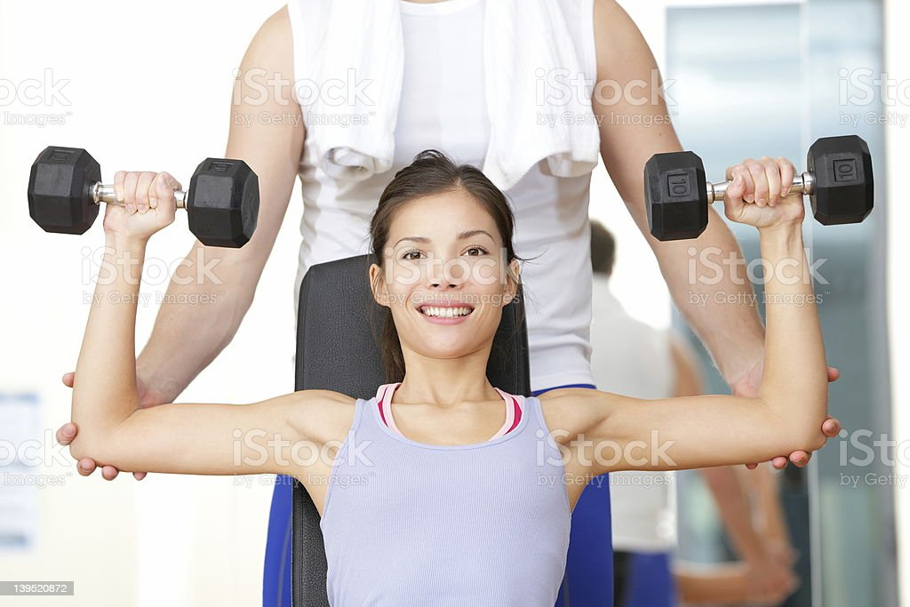 Gym fitness people stock photo