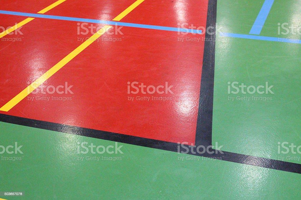 Gym floor stock photo