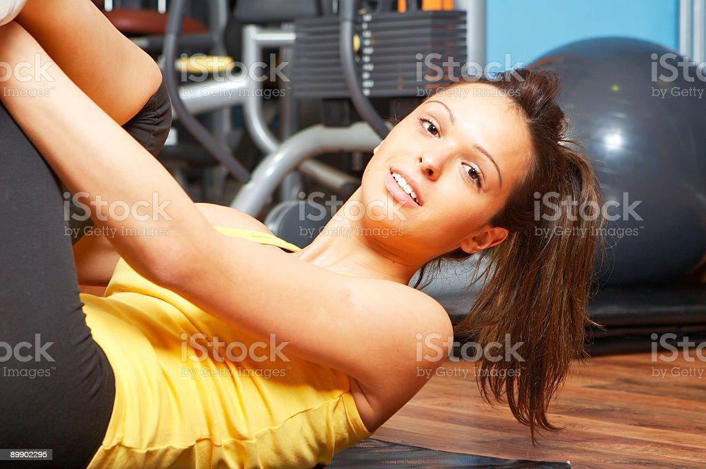 Gym girl exercise royalty-free stock photo