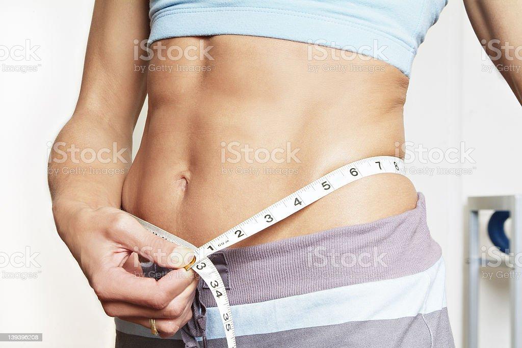Gym girl waist royalty-free stock photo