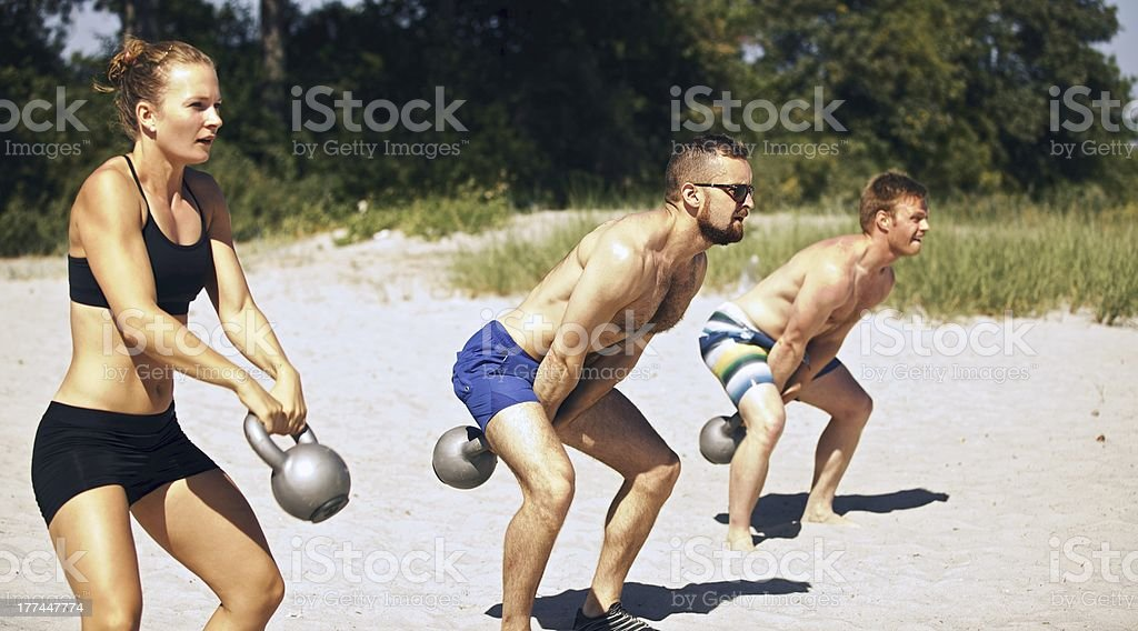 gym Group Workout royalty-free stock photo