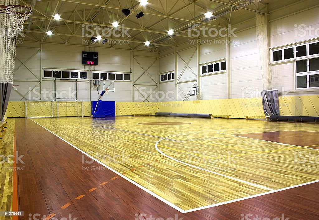 Gym hall royalty-free stock photo