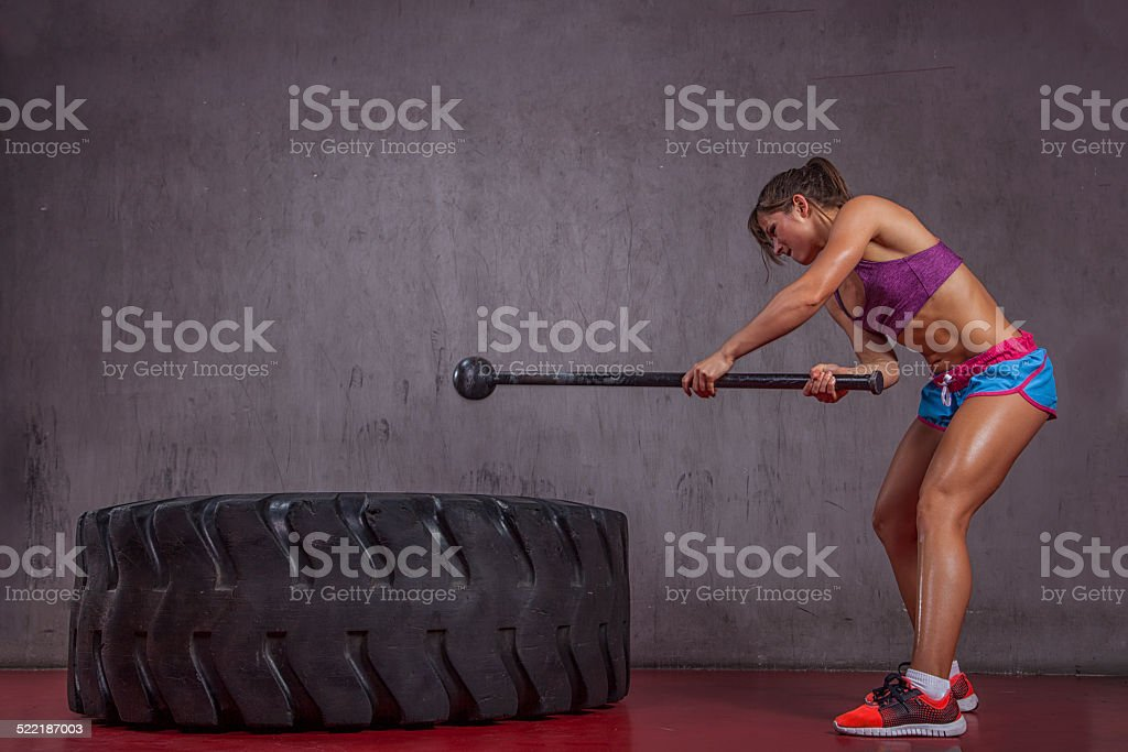 gym Hammer Training stock photo
