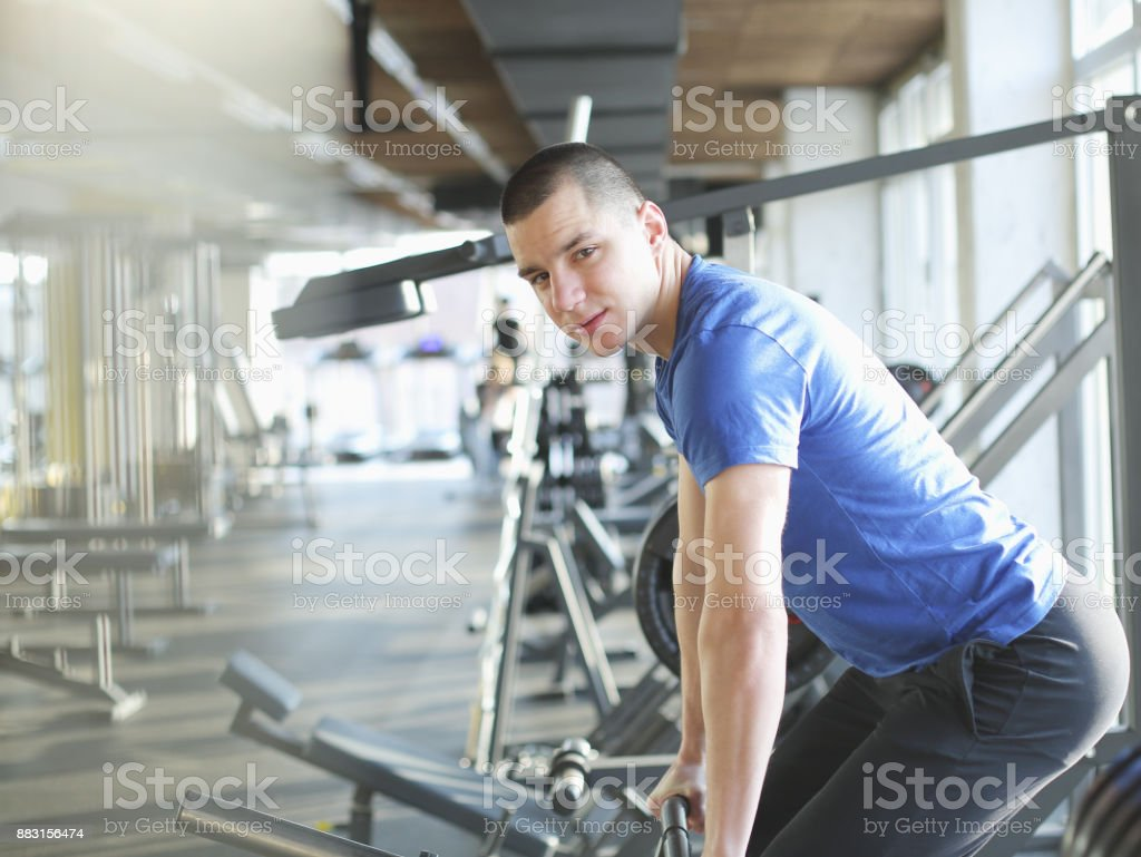 Gym instructor stock photo