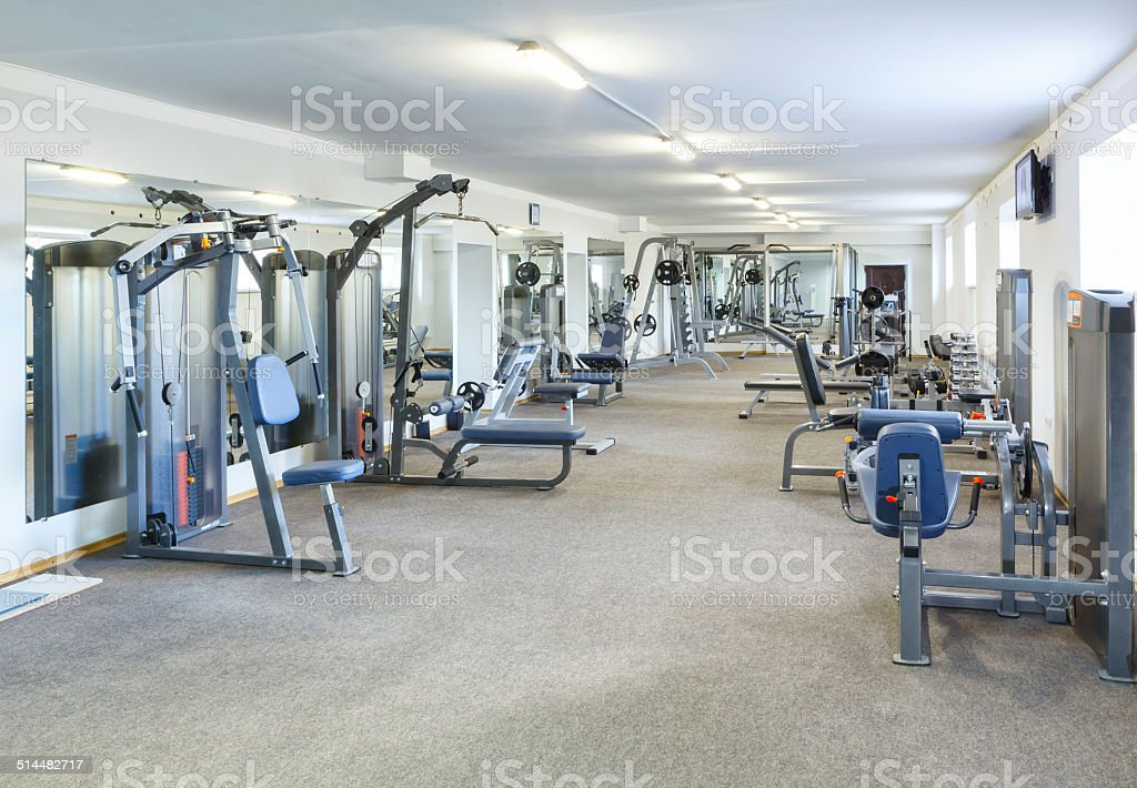 Gym interior. stock photo