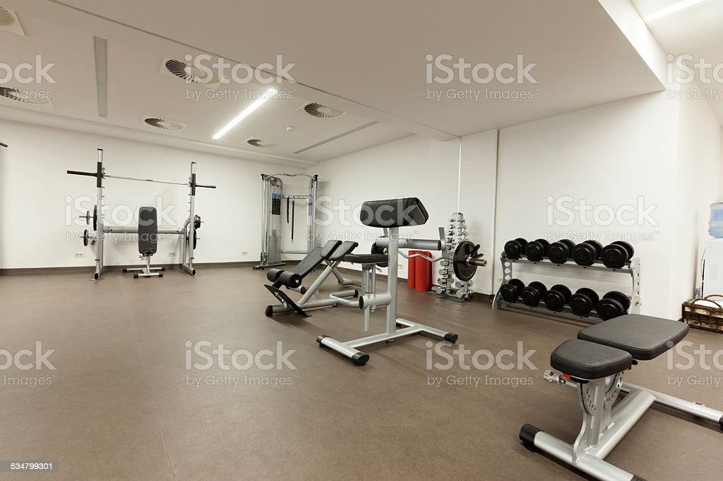 gym interior stock photo