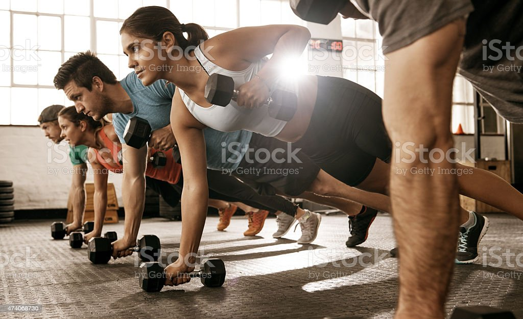 gym is a way of life stock photo