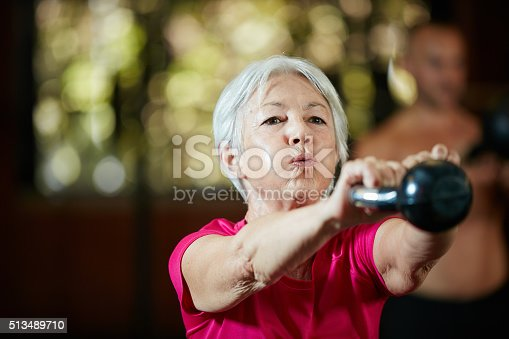 istock Gym is her power hour 513489710