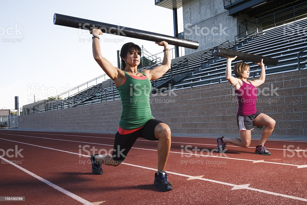 gym Lunges royalty-free stock photo