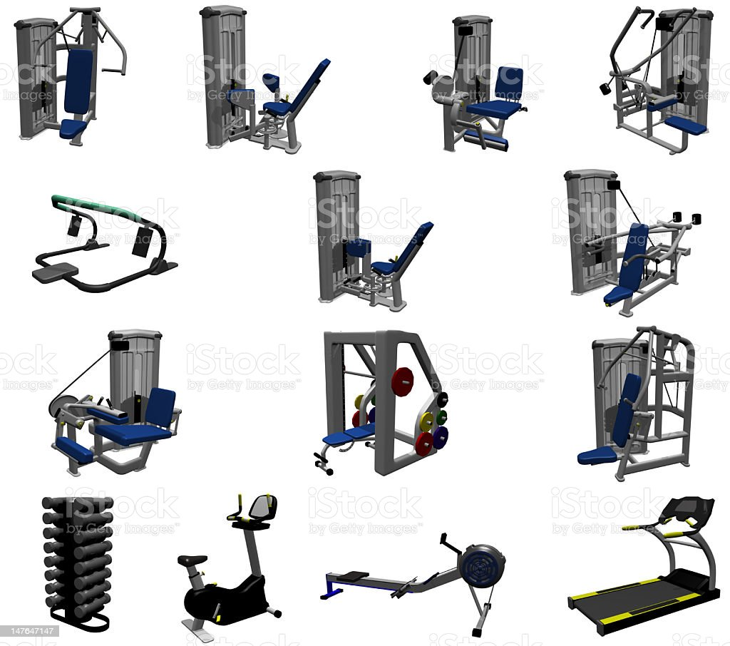 Gym Models royalty-free stock photo
