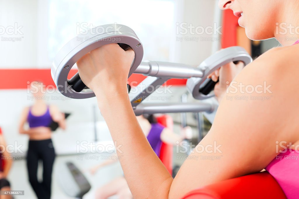 gym people doing strength or fitness training royalty-free stock photo