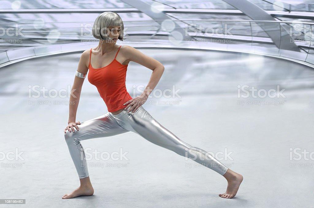 - Fitnessraum - Lizenzfrei Attraktive Frau Stock-Foto