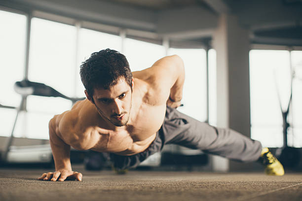 gym - push up stock photos and pictures