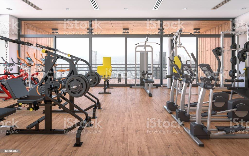 Gimnasio (Fitness Center) foto de stock libre de derechos