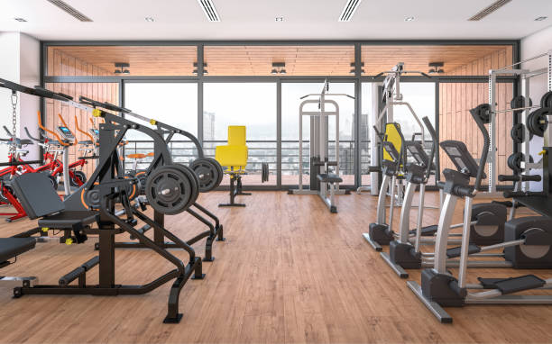 gym (fitness center) - health club stock photos and pictures