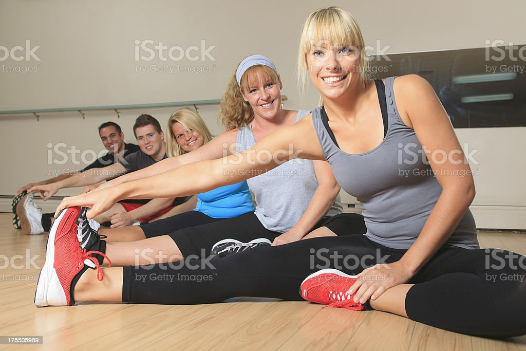 Gym Place - Peoples Stretching royalty-free stock photo