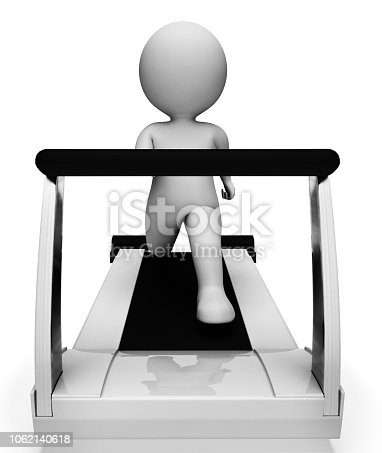 Character Running Meaning Getting Fit And Exercised 3d Rendering