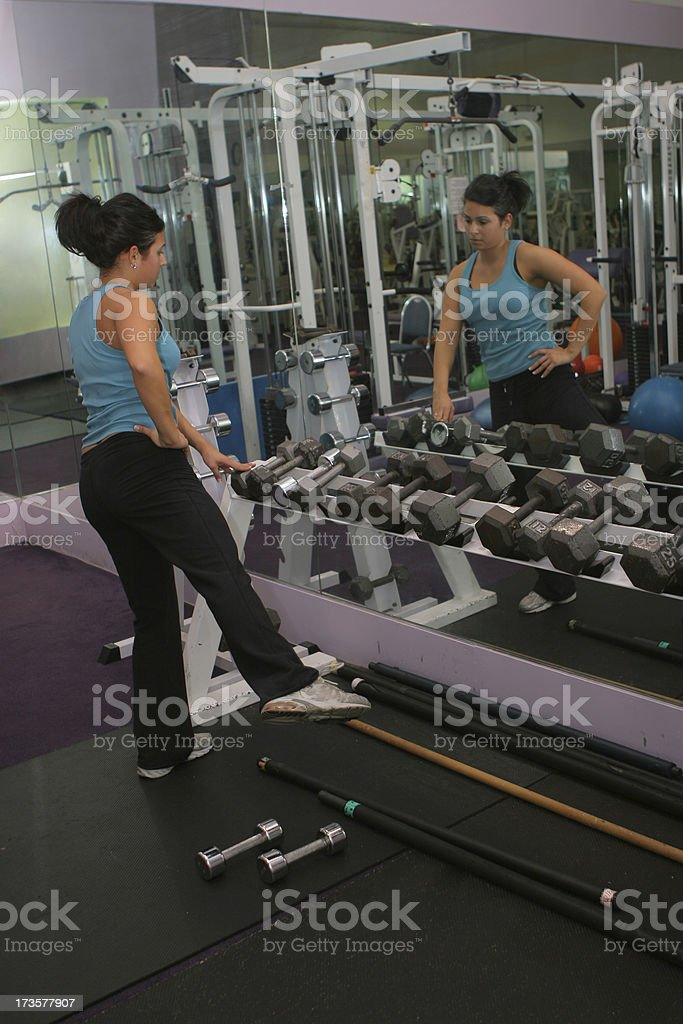 Gym - Stretch royalty-free stock photo