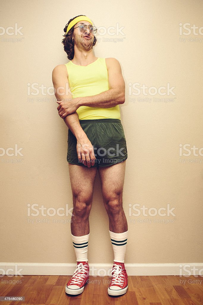 Gym Style Retro Man stock photo