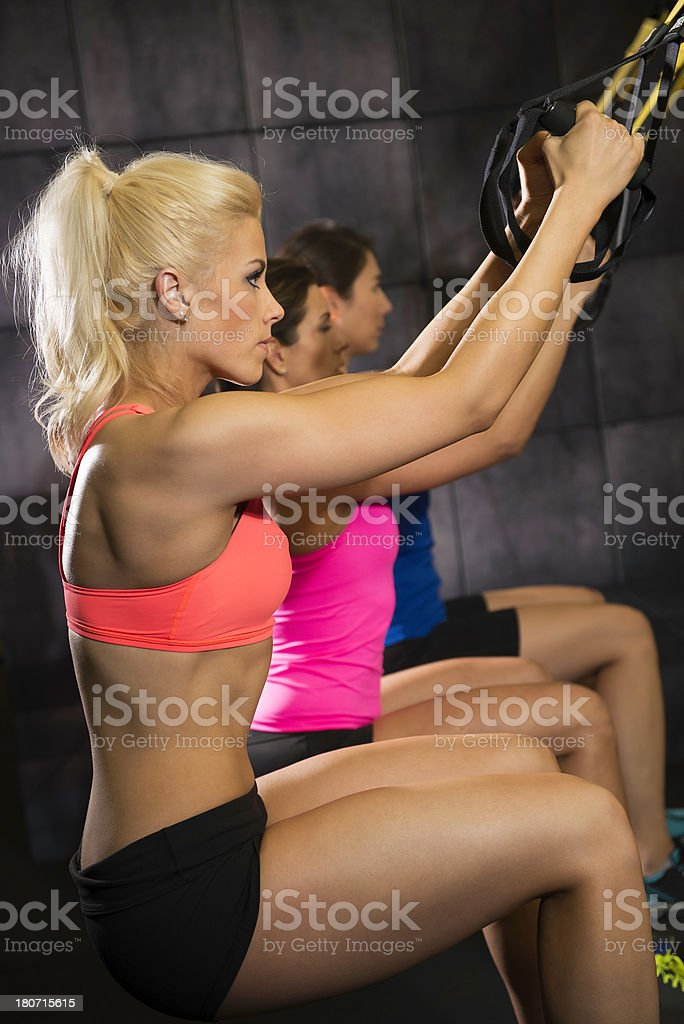 gym Suspension Training royalty-free stock photo