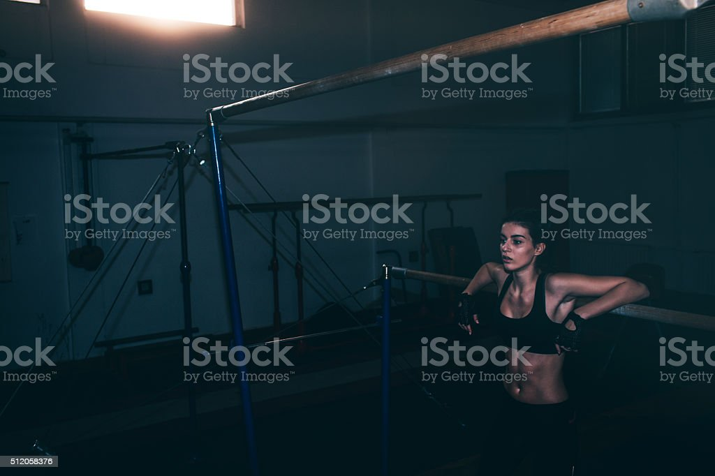 Gym time stock photo