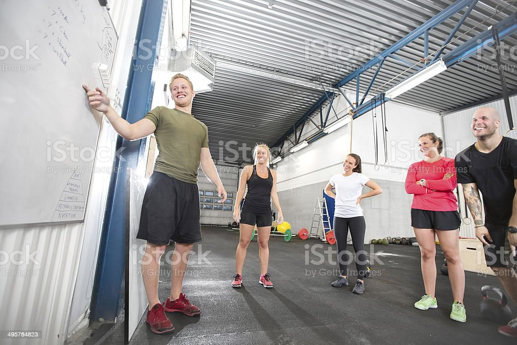 gym training course stock photo