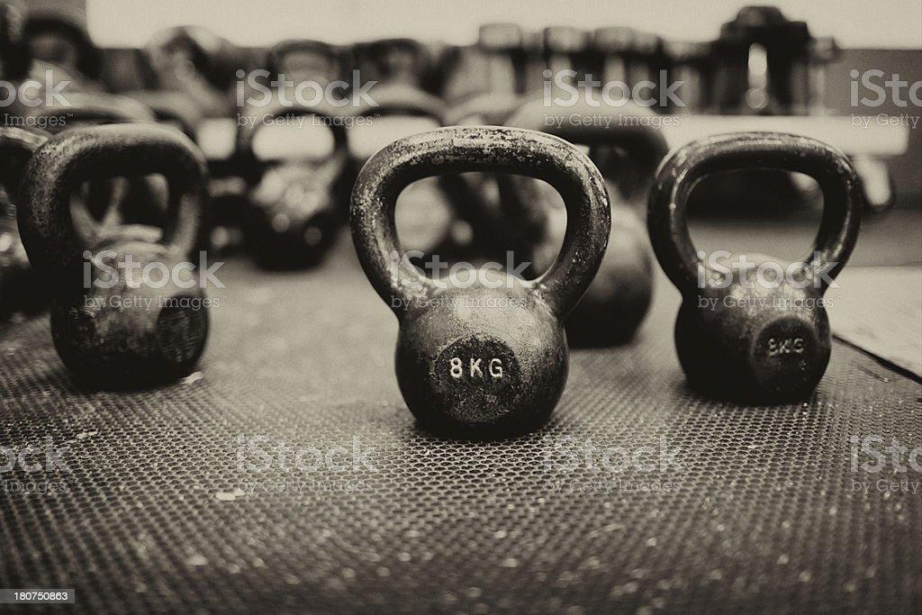 gym training dumbbells - Royalty-free Cross Training Stock Photo