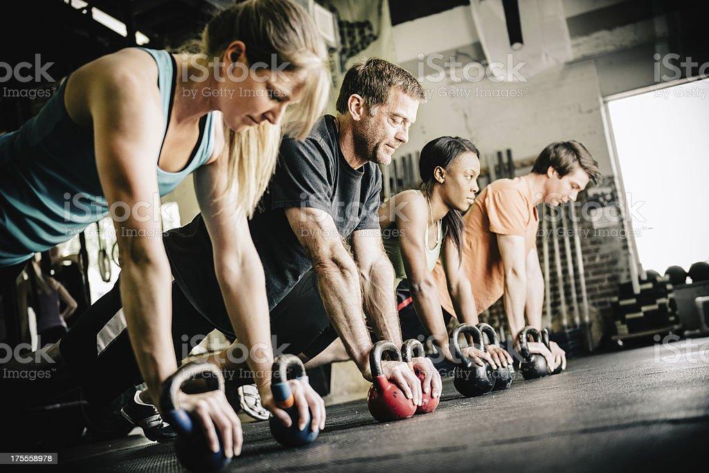 CrossFit Training Push-Ups – Foto