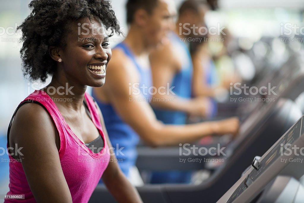 Gym workout stock photo