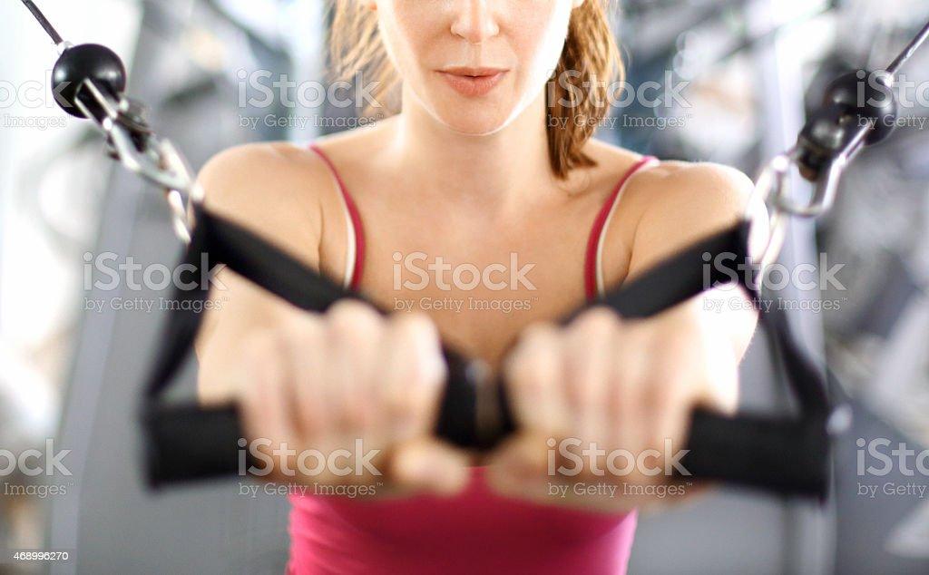 Gym workout. stock photo