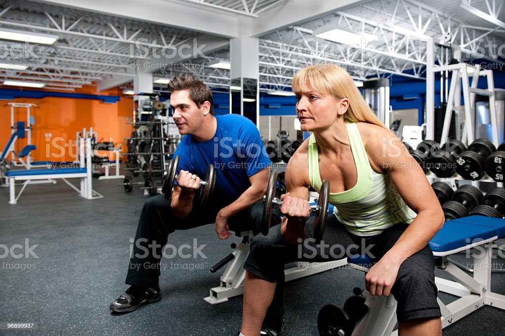Gym workout royalty-free stock photo