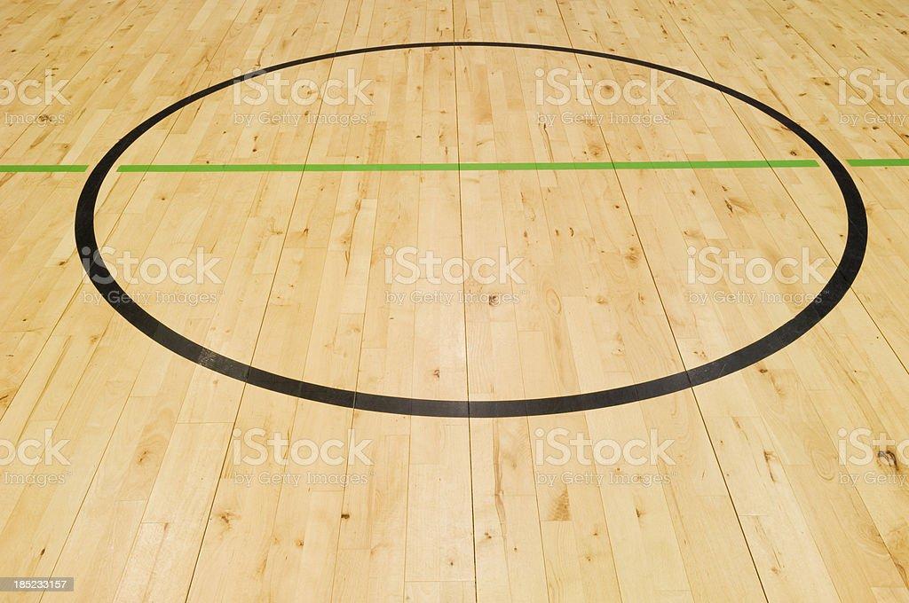 Gymnasium floor stock photo