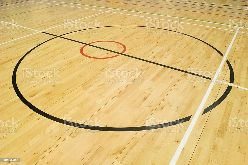 Gymnasium floor stock photo