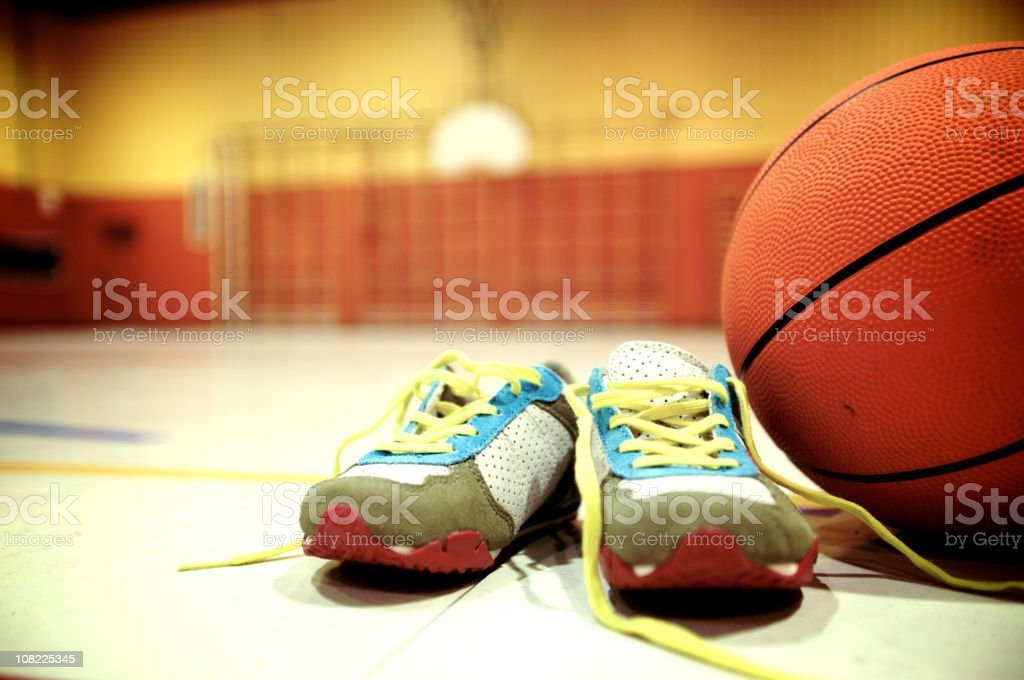 gymnasium sport's runnig shoes royalty-free stock photo