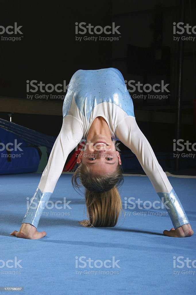 Gymnast back bend royalty-free stock photo
