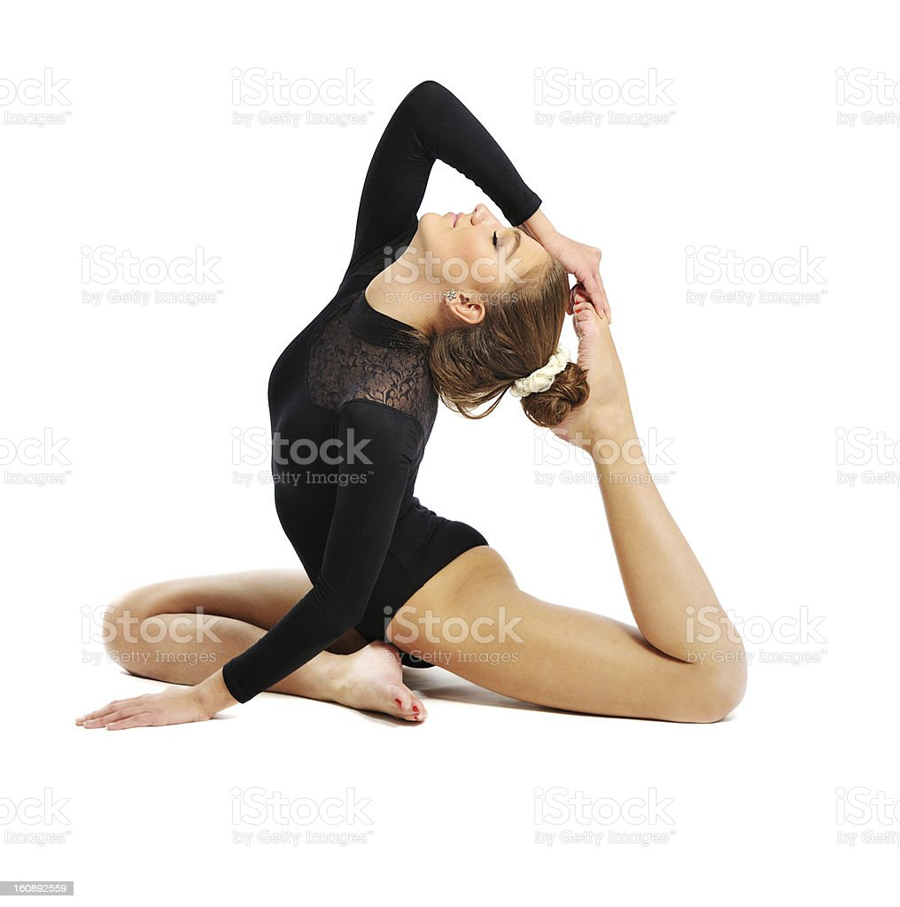 gymnast  girl royalty-free stock photo