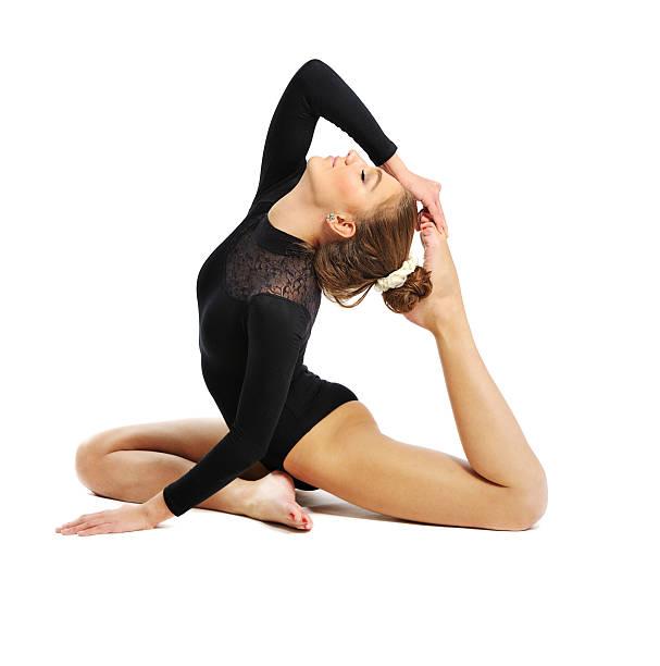 gymnast  girl stock photo