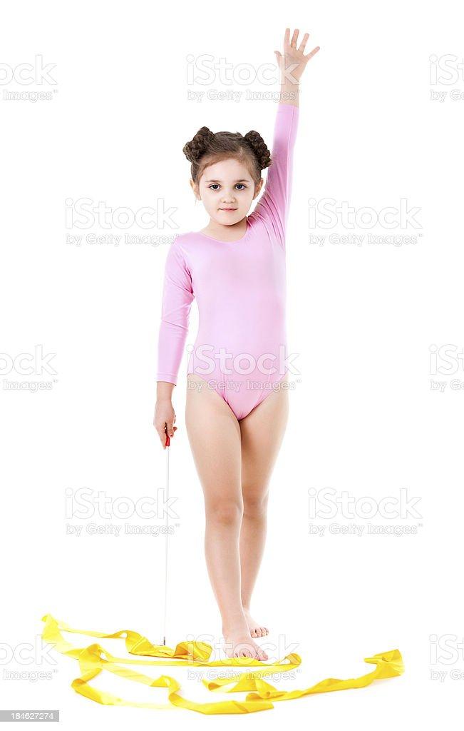 Gymnast girl royalty-free stock photo