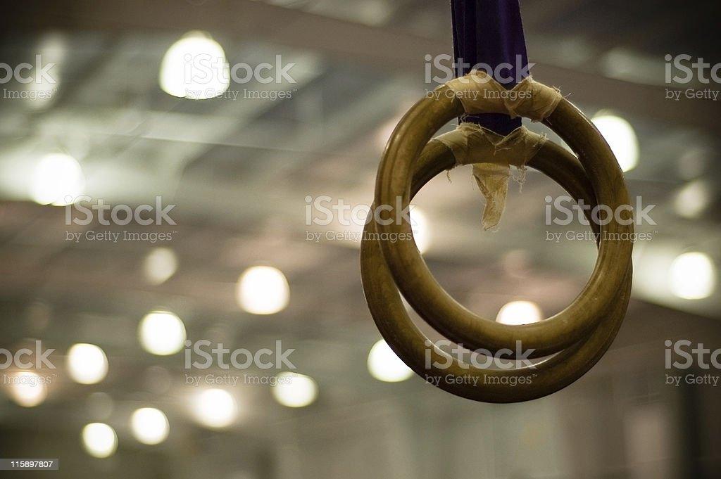 gymnast rings royalty-free stock photo