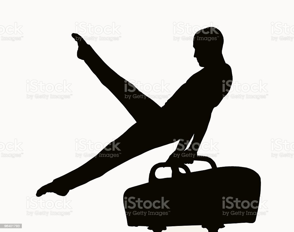 Gymnast silhouette - Royalty-free Adult Stock Photo