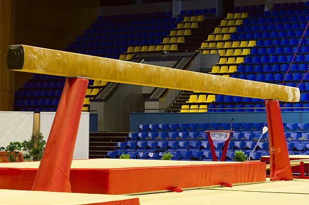 gymnastic balance beam - balance beam stock photos and pictures