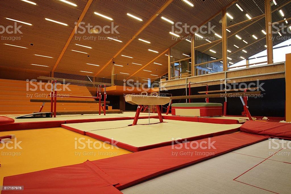 Gymnastic equipment stock photo