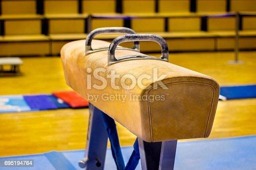Gymnastic equipment in a gym in the Faroe Islands