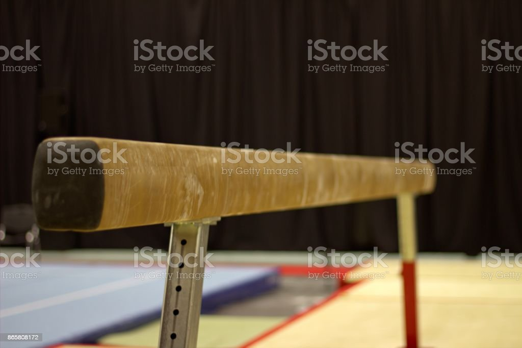 Gymnastic equipment stock photo